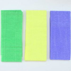 Thick Crepe paper, green, Yellow, 9.5-9.8cm x 2.5m, 3 sheets, 125 gsm, [CR350]